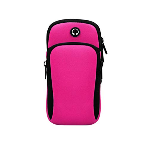 (ONLY TOP Multifunctional Outdoor Sports Armband, Running Armbag Arm Package Bag Gym Fitness Cell Phone Pockets Hot Pink)