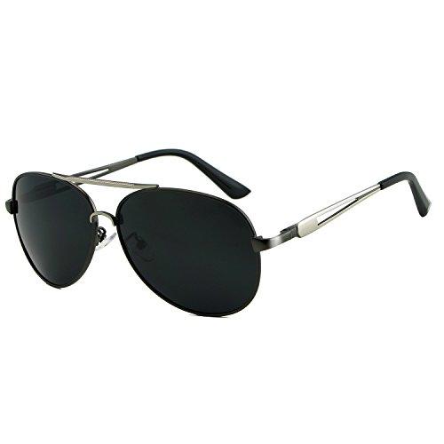 Hombres Tonos Sol aviación Sol XZP para de Vintage Marca polarizadas Accesorios Silver diseñador de Retro de Gafas Gafas Gafas 6TPw6xqaR