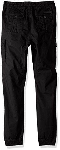 Southpole Big Boys' Washed Stretch Ripstop Cargo Jogger Pants, Black, Medium by Southpole (Image #2)