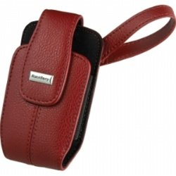 Blackberry Apple Red Matte Leather Vertical Tote With Wrist Strap for 8300 8310 8320 8330