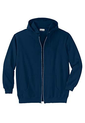 (KingSize Men's Big & Tall Fleece Zip-Front Hoodie, Navy Big-3Xl)