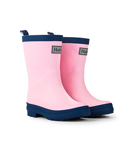 Hatley Kids' Little Classic Rain Boots, Pink & Navy, 12 US Child