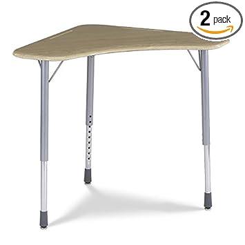 Amazon Com Virco Zboomm Student Desk 28 X 28 Fusion Maple