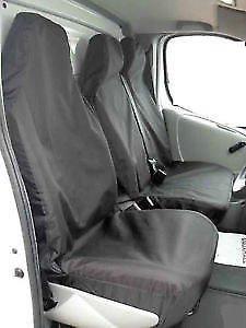 Factor First FF94975 2 1 Black Waterproof Van Seat Covers