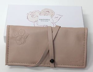 Valentino parfums JEWEL POUCH - Nude pink clutch Cosmetics bag - Valentino Pink
