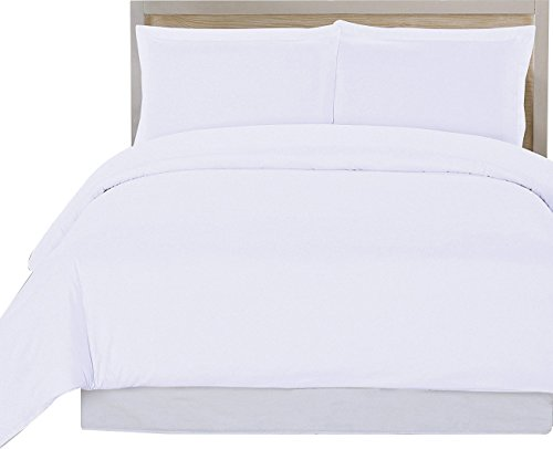 Utopia Bedding 3 Piece Queen Duvet Cover Set with 2 Pillow Shams, White (3 Piece Duvet Set)