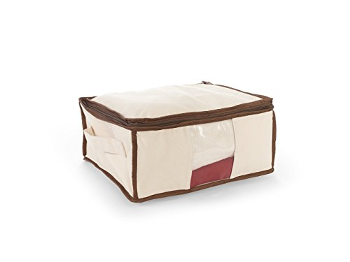 Covermates - Canvas Sweater Storage Bag - 14L x 12W x 6H - Organix Collection - 2 YR Warranty - Year Around Protection - Natural ()