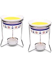 Nantucket Seafood 55891 Nautical Butter Warmers, Set of 2, White