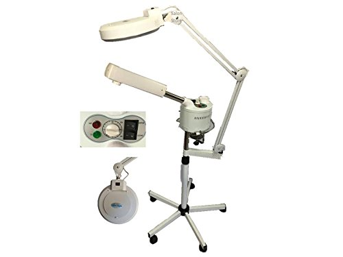 Facial Steamer LED Mag Light Combo with Ozone - New (Magnifying Lamp 5 Diopter Mag)