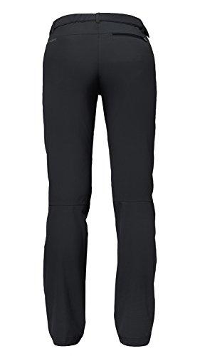 Vaude Farley Stretch - Pantalones de acampada y senderismo para mujer Negro
