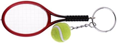 プラスチック シミュレーションテニスラケット テニスキーチェーン