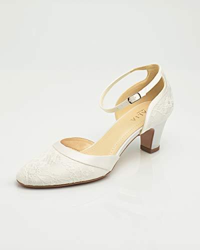 pour Avalia à en chaussures talons femmes ivoire wxP0axqC
