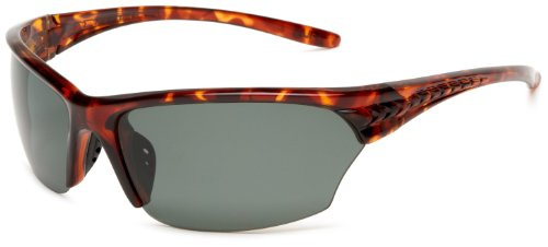 Fila SF013PC30 Polarized Sport Wrap Sunglasses,Red Havana Frame/Green Lens,One - Fila Sunglass