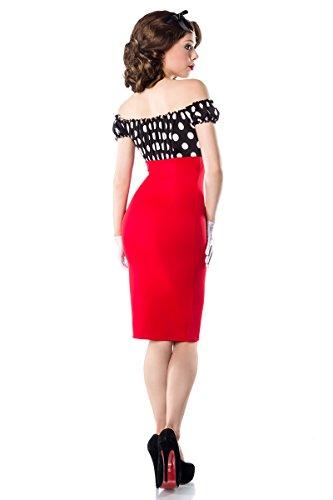 Carmen Dot in Pencilkleid Weiß Belsira Farben Top Rot Polka Schwarz A50005 2 tTqAAnwZ1x