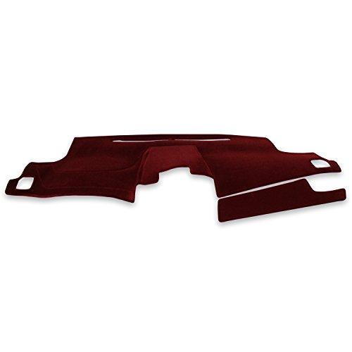 Coverking Custom Fit Dashcovers for Select Dodge RAM 2500/3500 Models - Velour (Red)