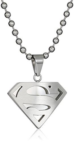 DC+Comics Products : DC Comics Superman Men's Comics Stainless Steel Necklace