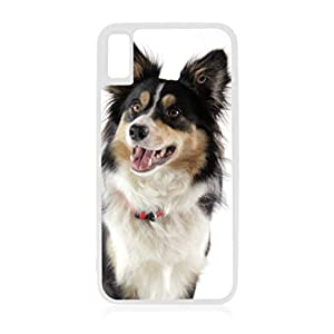 Border Collie Dog White TPU Rubber Case Cover for The Apple iPhone 10 / iPhone X/iPhone Xs - iPhone 10 Case - iPhone X Case - iPhone Xs Case 1
