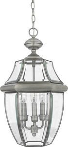 Quoizel NY1179P 3-Light Newbury Outdoor Lantern in Pewter