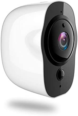 Battery Powered Security Camera, 1080P HD IP66 Rechargeable WiFi Security Camera Surveillance Clear Night Vision Alarm Mail or Telephone Remote App Control 32G TF Card Included White