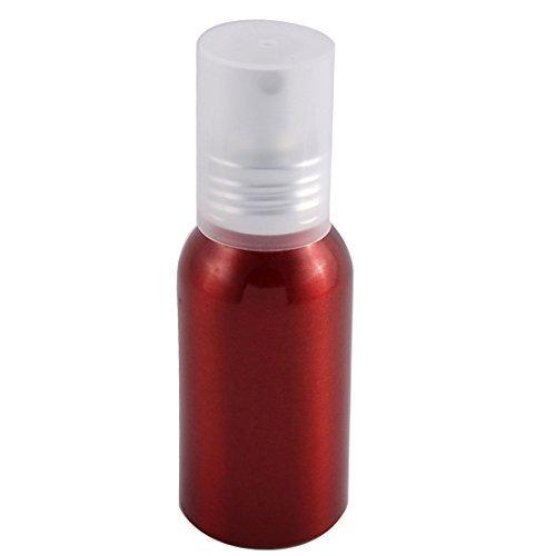 Refillable Burgundy (DealMux Aluminum Travel Cosmetic Emulsion Press Pump Fine Mist Spray Bottle 100ml Burgundy)