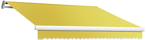 Awntech 8-Feet Maui-LX Manual Retractable Acrylic Awning, 84-Inch Projection, Yellow