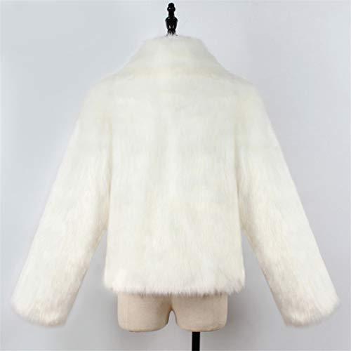 Poil Blanc ◕‿◕lianmengmvp Femme Fourrure Chaud Fausse Le Manteau a4wnxqBn