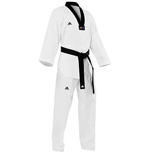 Adidas Champion II Taekwondo Uniform with Black V Neck