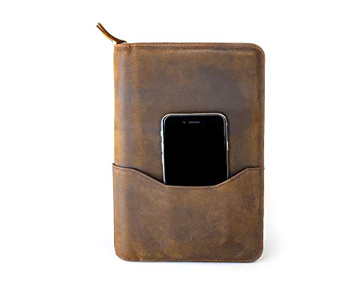 Wall St Smoker, Grand Genuine Leather Portable Travel Cigar Case, Holds 8-10 Double Gordo Cigars by Soul Beautiful (Image #2)