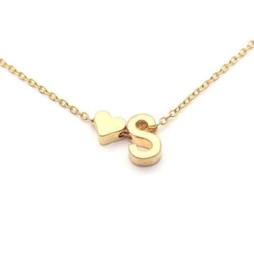 Zivom Glossy Heart Love Dainty 18K Gold Pendant Necklace Chain for Women