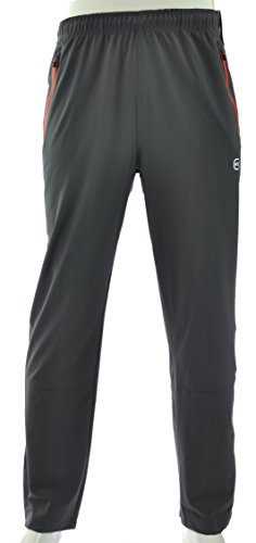 Men's Free Country Active Woven Stretch Pant (Medium, Deep Charcoal)