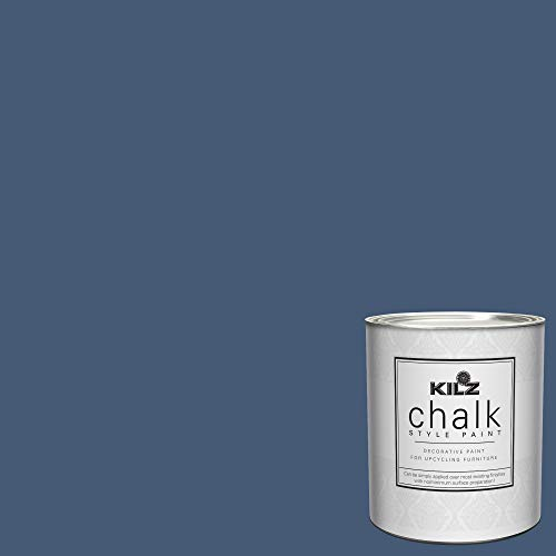 KILZ 00004804 Interior Chalk Style Ultra Flat Decorative Paint for Furniture, 1 Quart, Authentic Navy