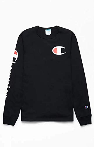 Champion LIFE Men's Heritage Long Sleeve Graphic Black XX-Large ()