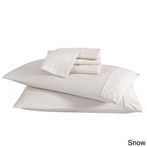 VCNY Home Clairebella Sheet Set, Full, Snow