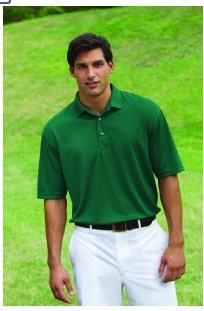 Whispering Pines Sportwear Men's Three Button Pique Polo Shirt_HUNTER GREEN_4XL from Whispering Pines Sportwear