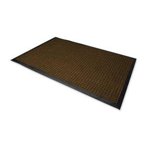 Genuine Joe Indoor/Outdoor Mat, Water Guard, 3 by 5-Feet, Brown
