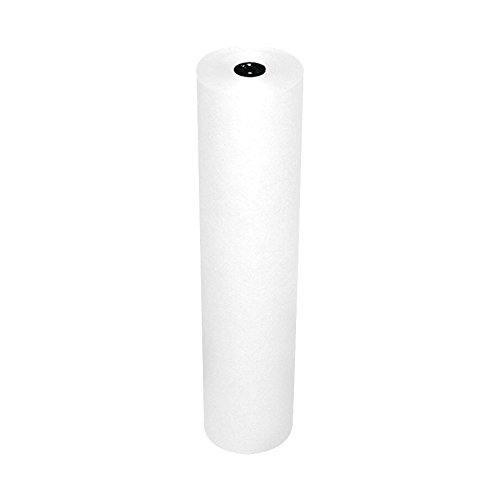 Pacon Rainbow Lightweight Duo-Finish Kraft Paper Roll, 3-Feet by 1000-Feet, White ()