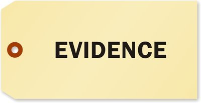 Evidence Tag, 100 Tags / Pack, 6.25