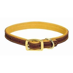 Weaver Leather Deer Ridge Collar, 1 x 25-Inch, Brown