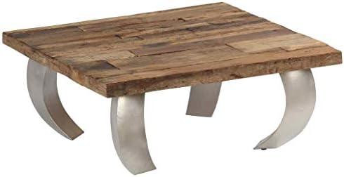 2020 Nieuw Festnight salontafel van hout en staal, 80 x 78 x 35 cm  f1VruKl
