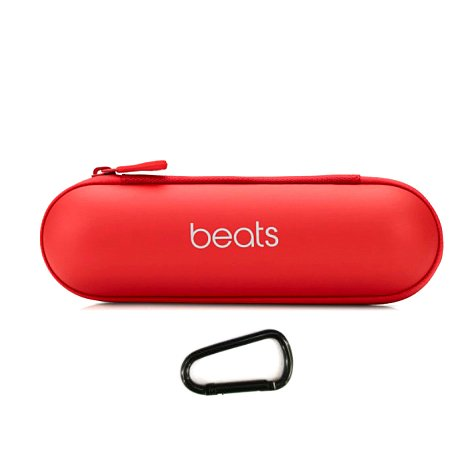 Zee's Music Replacement Zipper Carrying Case Pouch Bag Box Beats by Dr. Dre Pill 1.0 / 2.0 Bluetooth Wireless Portable Speaker Red