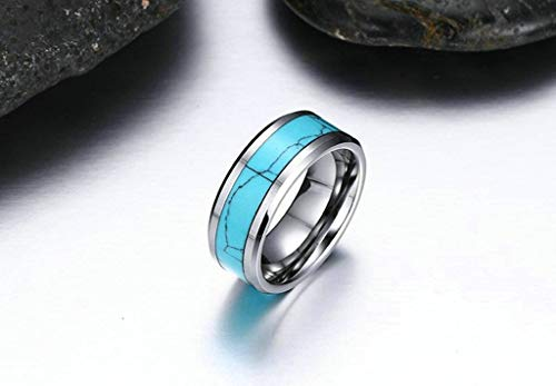 Aooaz Jewelry Wedding Ring for Couples 8Mm Carbide Ring Promise Ring for Couple Ring