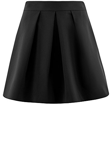 oodji Plis Noir vase Jupe Femme 2900n Inverss Ultra rwxHZUrq