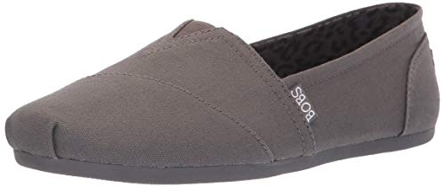 - Skechers BOBS Women's Bobs Plush-Peace & Love Ballet Flat, Dark Grey, 8 M US