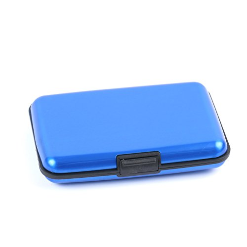 Bleu Haut Cartes Crédit tech Pour 2 Étui De En Aluminium Gamme nvEwCHSx7