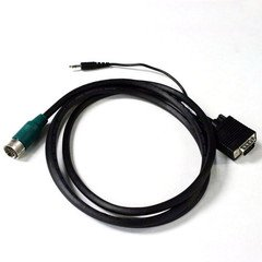 6 ft EZ Pull Green Tip Male to VGA + Audio [25H1-25106] -
