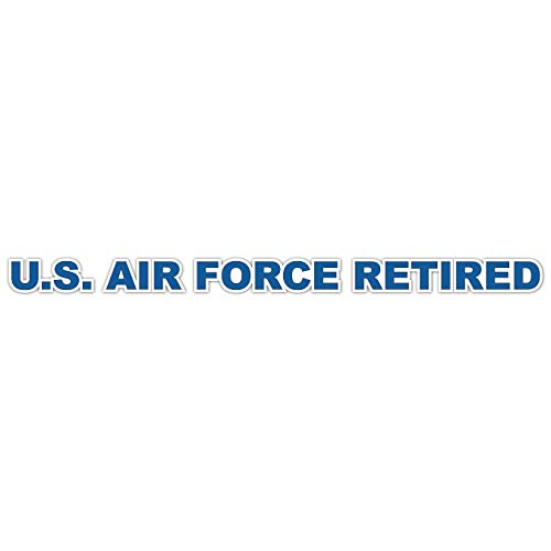 (US Air Force Retired Military Vinyl Transfer Window Strip Military Veteran Served Window Bumper Sticker Vinyl Decal 3.8