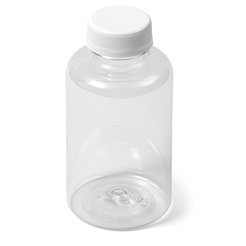 - (16) Clear PET Boston Round Bottle - 12 oz White IPEC Cap