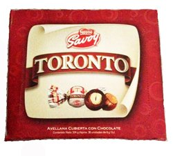 Savoy Toronto Nestle Avellana Cubierta con Chocolate 324gr 36 Pieces 8 Pack by Savoy