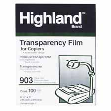 Highland 903 Transparency Film with Removable Sensing (3m Highland Transparency Film)