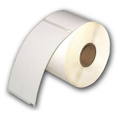 6 Rolls of School Check-in Compatible ID Badge Labels - White - 2 5/16'' x 4 1/4'' - 300 Badges Per Roll